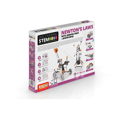 Engino Discovering STEM Newton's Laws: Inertia, Momentum, Kinetic & Potential Energy Kit