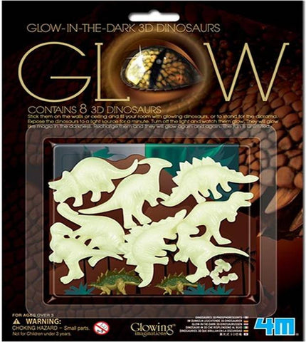 4M Glow In The Dark 3D Dinosaurs Set of 8