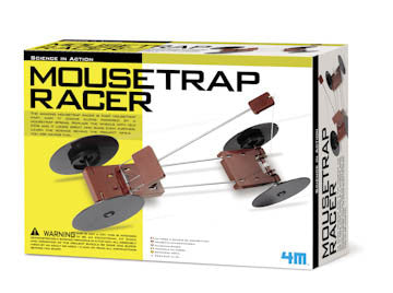 Mousetrap Racer Spring Loaded Car Science in Action by 4M