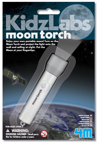 4M KidzLabs Pocket Moon Torch Projector Flashlight
