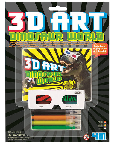 3D Art Dinosaur World 4M Kit by Toysmith