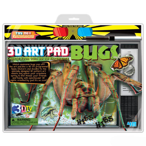 3D Art Pad Bugs 4M Kit