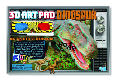 3D Art Pad Dinosaur 4M Kit by Toysmith