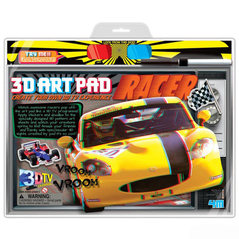 3D Art Pad Racer Automobiles 4M Kit