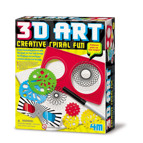 3D Art Creative Spiral Fun Graphing