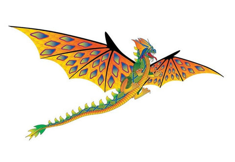 76 Inch Wide 3D Green Dragon Kite w/Handle & Kite String