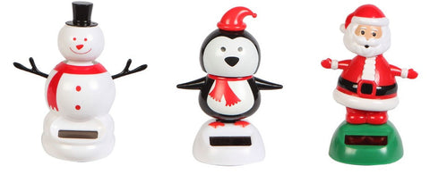 Christmas 3 Pack - Dancing Santa, Snowman & Penguin