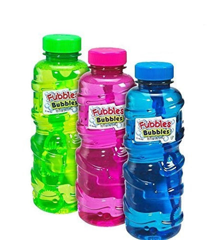 Fubbles Bubbles 3pk 16 oz Premium Bubble Solution By Little Kids
