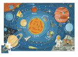 Solar System Jigsaw Floor Puzzle 60 Large Pieces w Planets, Space Shuttle, Astronaut