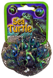 Sea Turtle Game Net Set 25 Piece Glass Mega Marbles