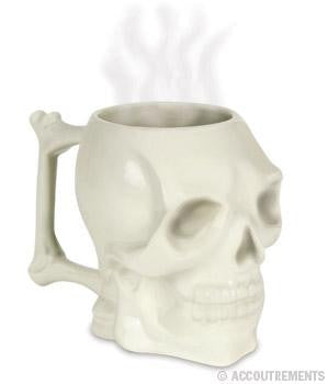 Skull Coffee Mug Ceramic 24 oz. Great for Halloween