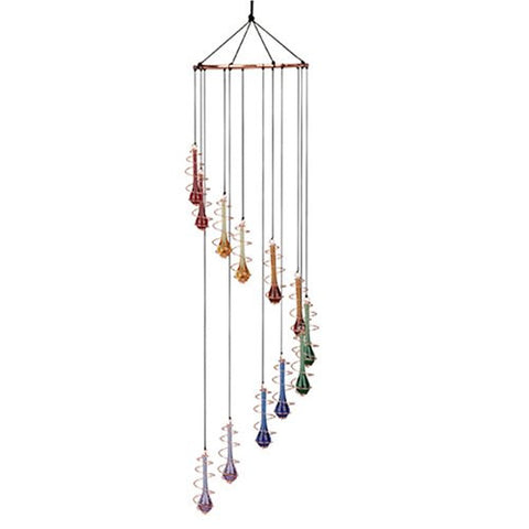 Teardrop Glass Rainbow Cascading Window Chime Ornament