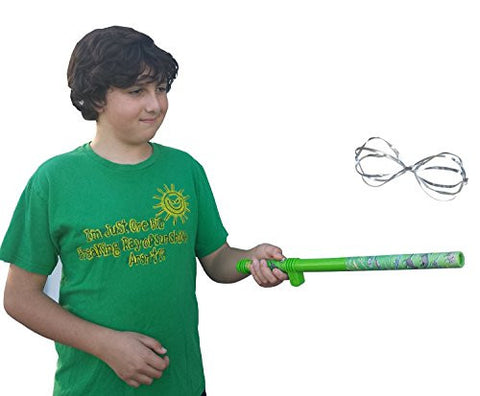 Dinosaur Themed Green Fun Fly Stick Dual Action Magic Levitation Wand