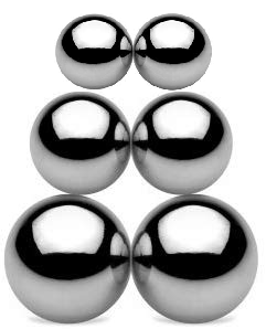 Pack of 6 Magnetic Buzzing Orbs (1 Pair Each of Small, Medium, & Large)