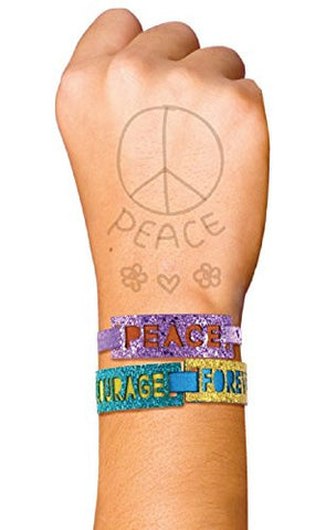Zema & Zoe Peace Courage Forever Trendy Wrist Wraps