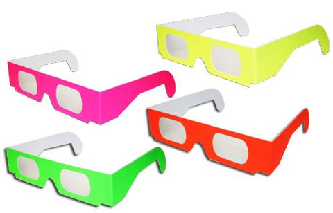 4 Pairs 3D Fireworks Glasses Neon Multi-Starbursts of 3D Color