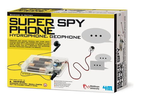 Super Spy Phone - Hydrophone/Geophone Soundwave Educational Kit