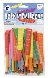 Rocket Balloons 21 per Pack (4 packs) Special Price