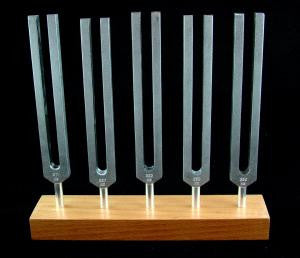 5 Piece Brain Tuners Set - Aluminum Body Tuning Forks Closeout Sale