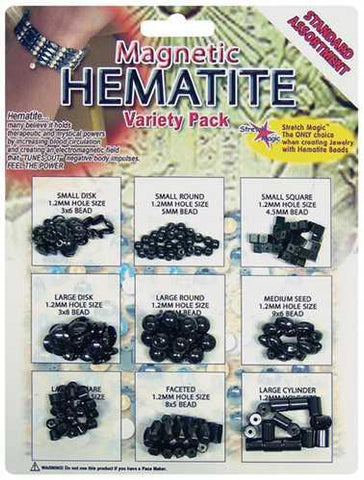 Magnetic Hematite Beads Variety Pack