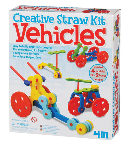 4M Tubee Creative Straws Building Kit - Vehicles