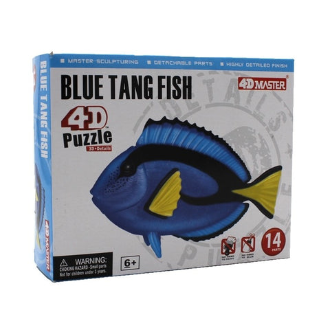 4D Blue Tang Fish Model 14 Piece Puzzle Realistic Detail