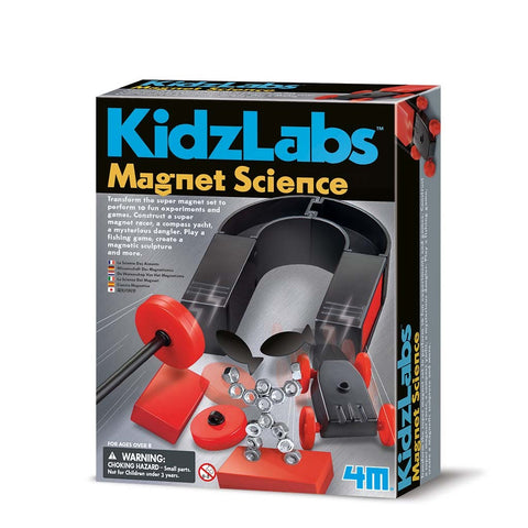 4M  Magnet Science Kidz Labs Kit: 10 Fun Experiments