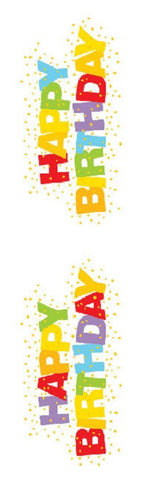 Mrs Grossman's Stickers - Happy Birthday - Large w Foil Accent