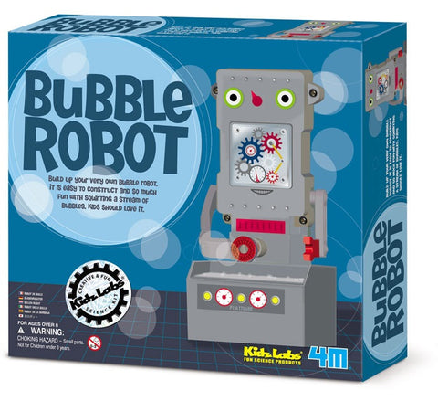 Build Your Own Bubble Robot Kidz Labs Science 4M Kit