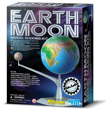 Earth & Moon Model Making Kit by 4M