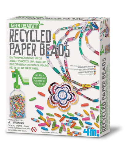 Recycled Paper Beads - 4M Green Creativity Kit