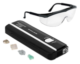 4 Watt Affordable Handheld Short Wave - Long Wave Ultra Violet Lamp w/Fluorescent Rock Samples & Safety Glasses