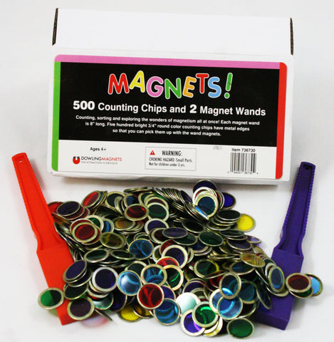 2 Magnetic Wands & 500 Counting Chips/Place Markers