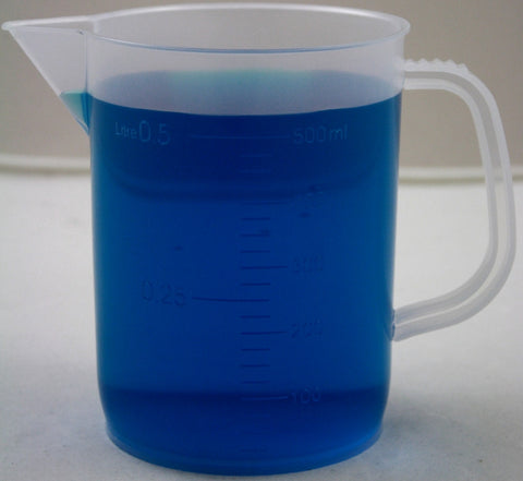 500mL Polypropylene Graduated Pitcher Beaker, Short Form