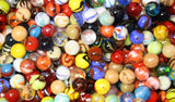 500 Count Bulk Assorted Premium 5/8 Inch Player Glass Mega Marbles