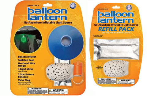 Balloon Lantern - Inflatable Light Source with Refill Pack