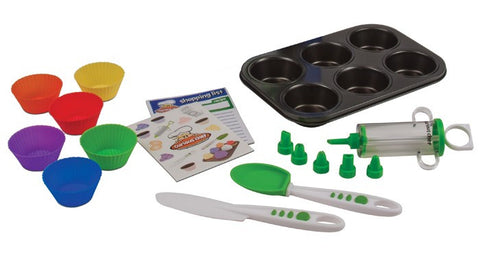 16 Piece Cupcake & Decorating Kit from Curious Chef