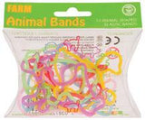 Animal Shaped Colorful Rubber Bands: Zoo or Farm Set 12pk