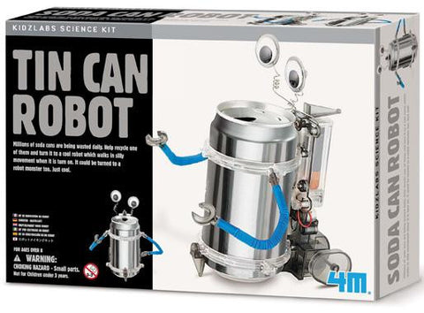 Tin Can Robot Kit 4M Green Science Project Kit