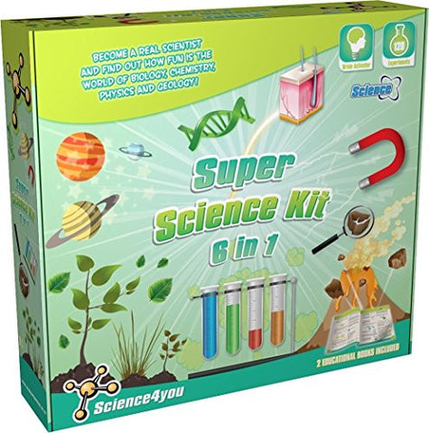 Super Science Experiment Kit 6 in 1 by Science4You