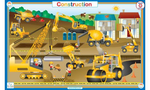 Construction - Activity Placemat by Tot Talk