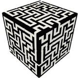 Maze V-Cube 3 Puzzle Cube, with Flat Sides