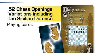 Deck of 52 Playing Cards w Chess Openings Variations Including the Sicilian Defense