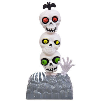 Solar Powered Dancing Halloween Skeleton Skulls