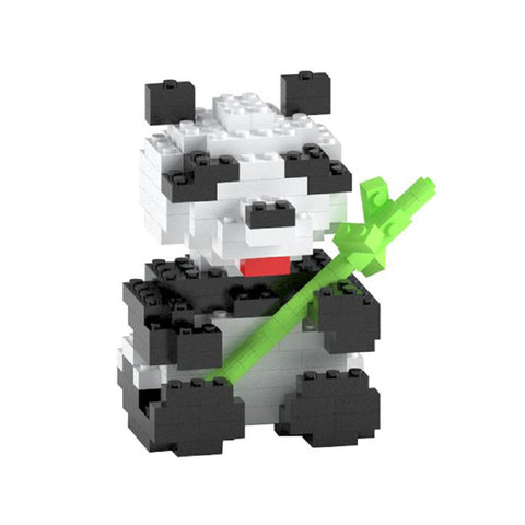 TICO Brick Mini Blocks Black and White Panda Bear