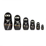 Ninja Set of 6 Russian Nesting Dolls by Thumbs Up!