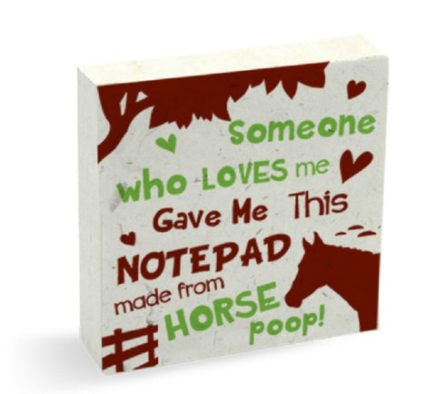 PooPooPaper Someone Who Loves Me Scratch Pad Made of Recycled  Horse Poo