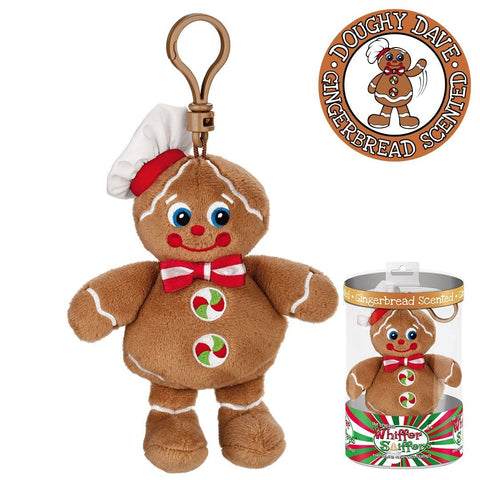 Whiffer Sniffers Doughy Dave - Gingerbread Scented Plush Backpack Clip