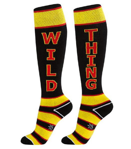 Wild Thing - Black, Yellow and Red Unisex Knee High Socks