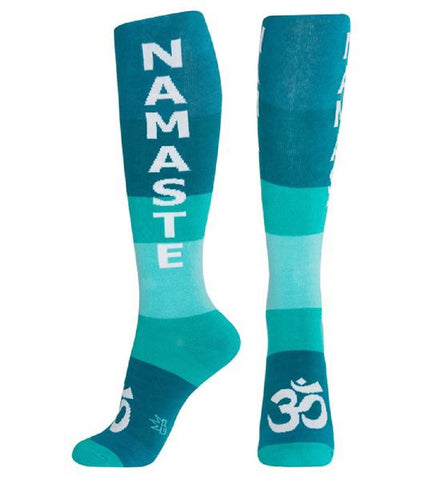 47aa56163e5 Namaste Socks - Teal and White Unisex Dress Knee Socks – Online Science Mall